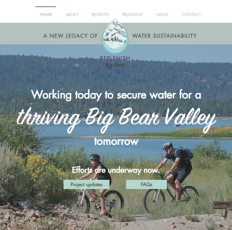 Replenish Big Bear Website