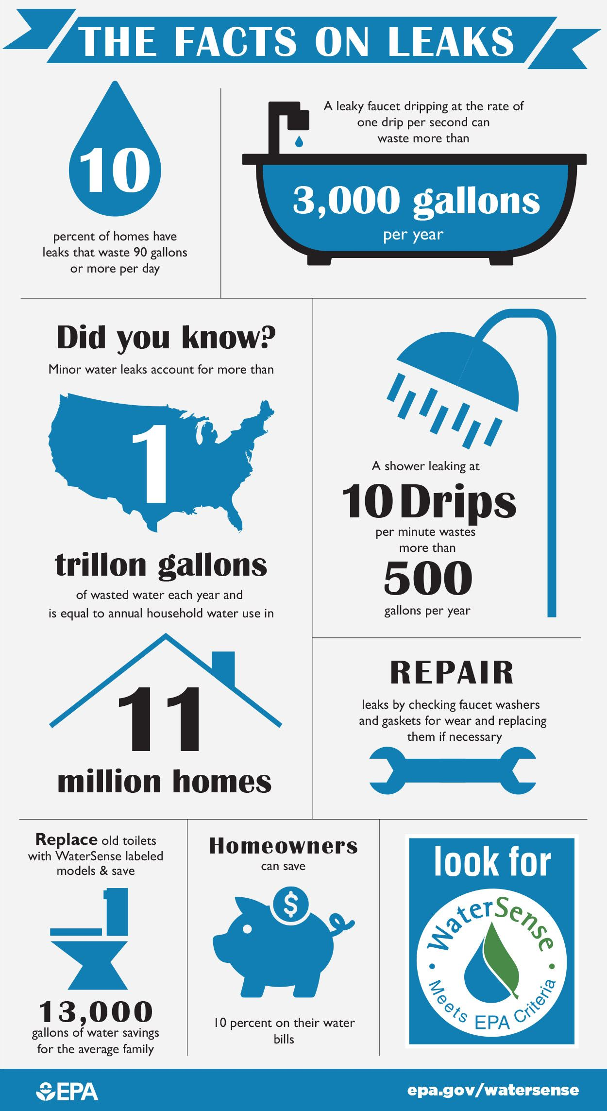 Facts on leaks infographic