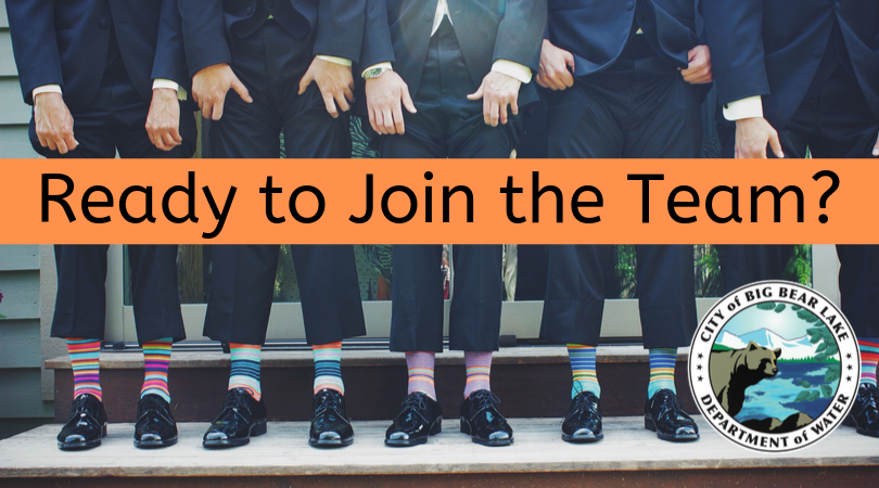 Ready to Join the Team? People holding up pants with colorful socks