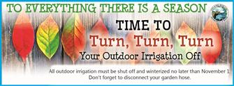 Time to turn your irrigation off